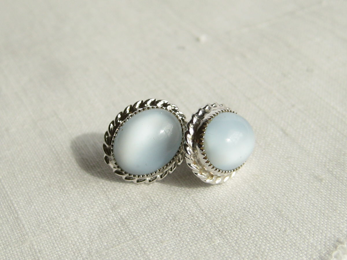 Blue Moonstone earrings - product image