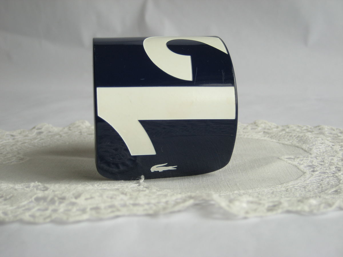 Lacoste large cuff bracelet Navy & White - product images  of