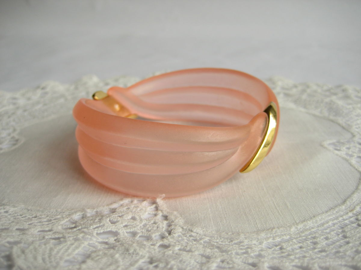 Frosted pink bangle by Avon - product images  of