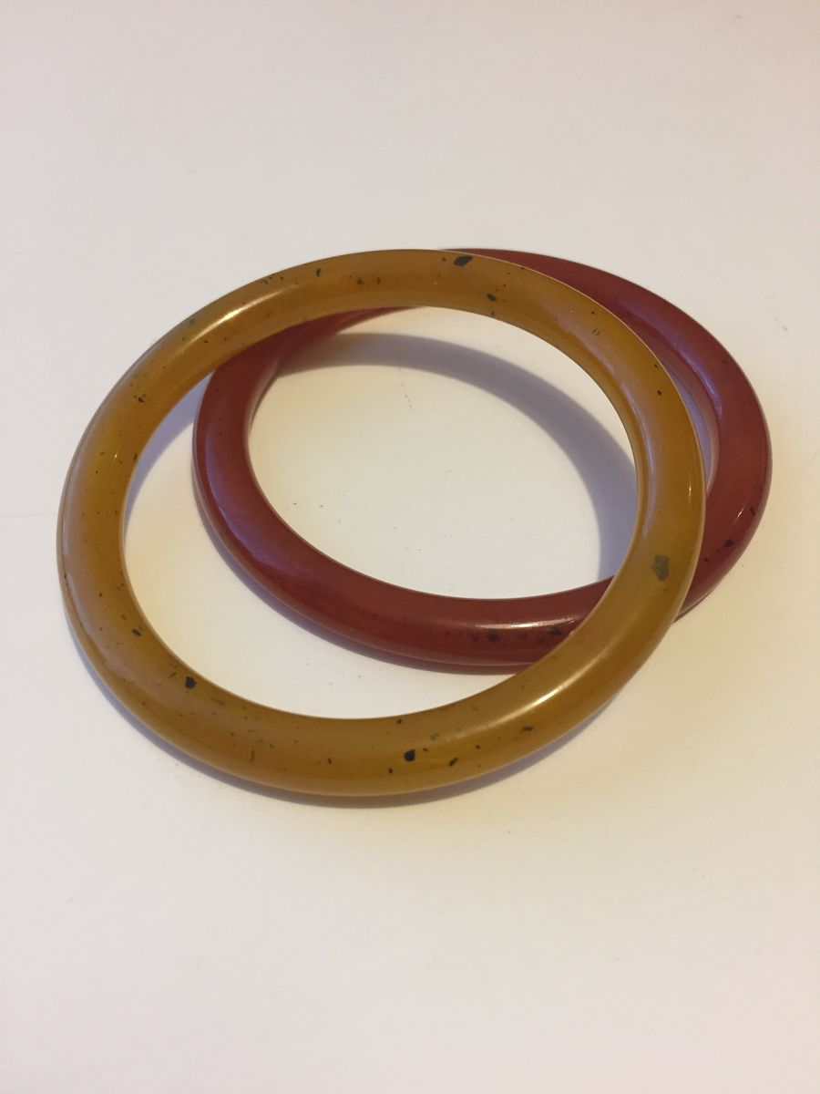 Vintage Lucite Tube Bangle pair - product image