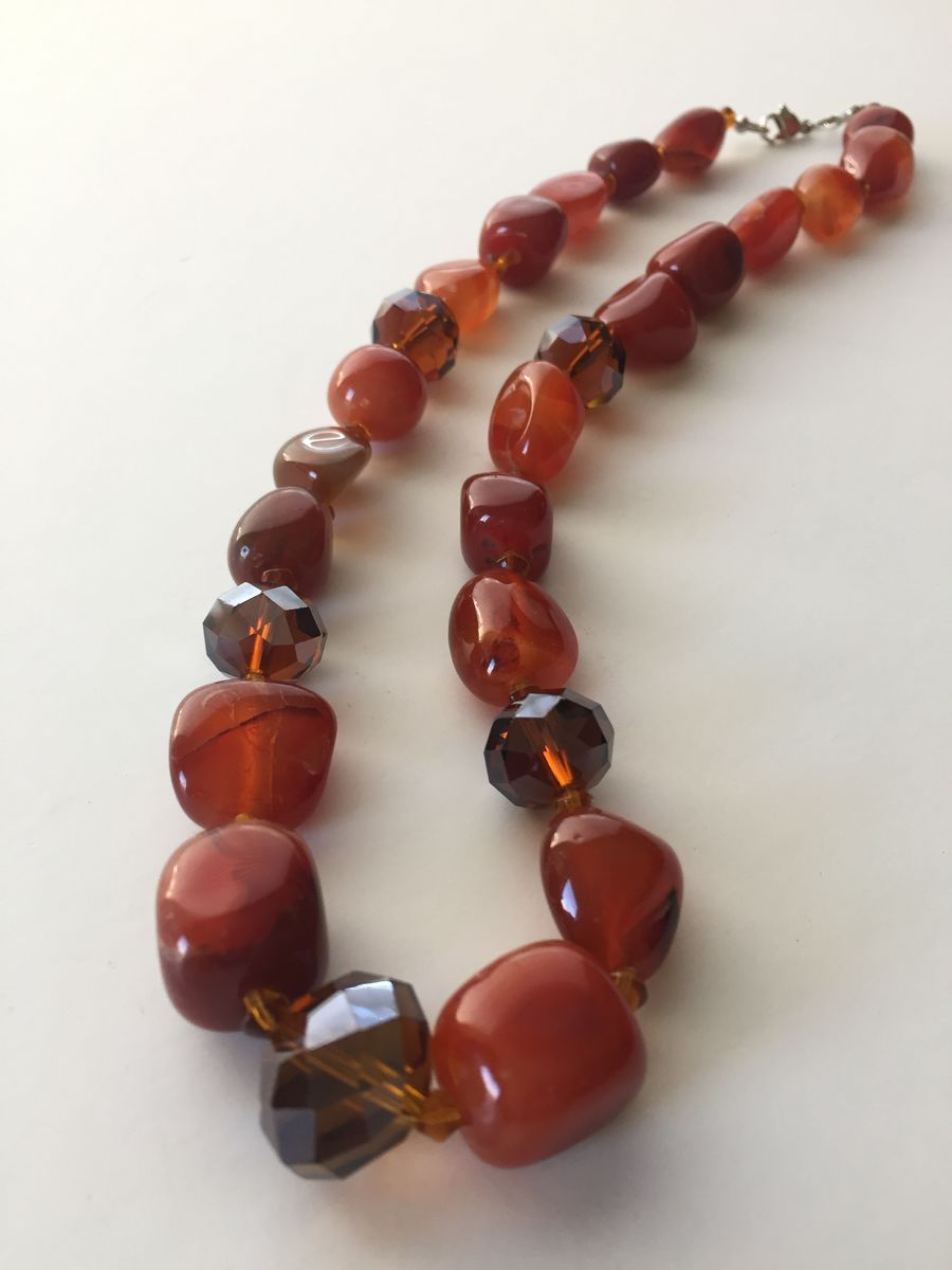 Crystal and Agate Necklace - product images  of