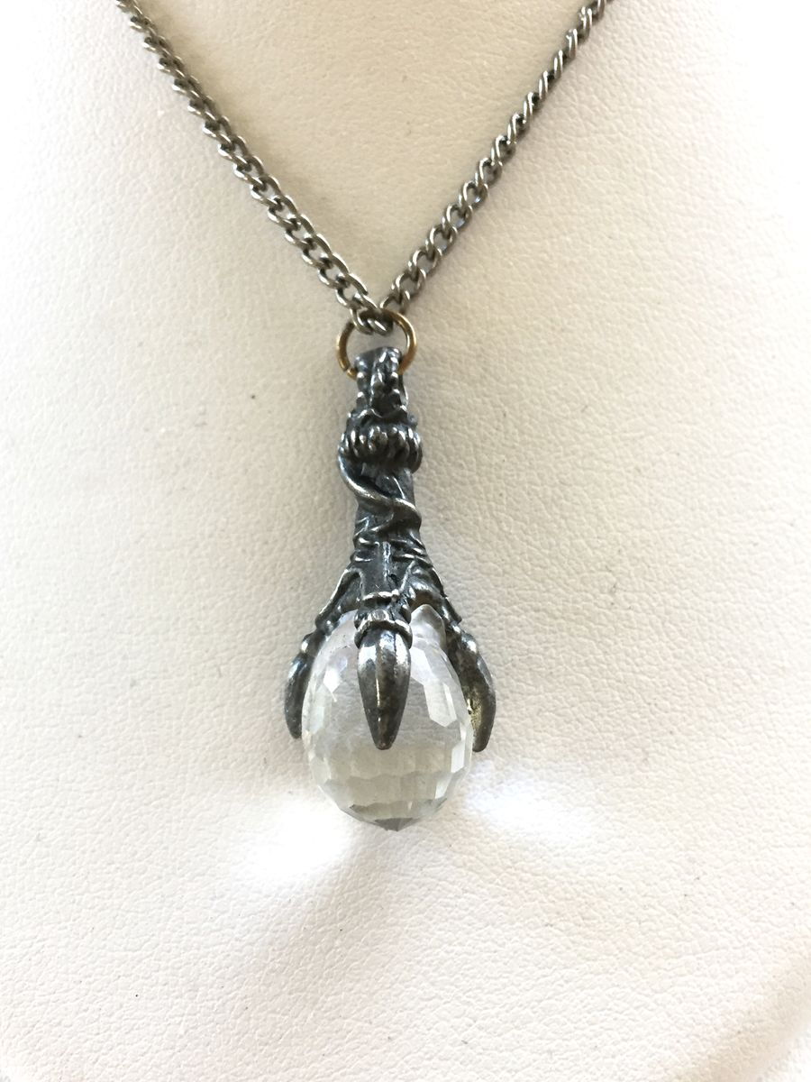 Crystal Dragon Claw necklace - product image