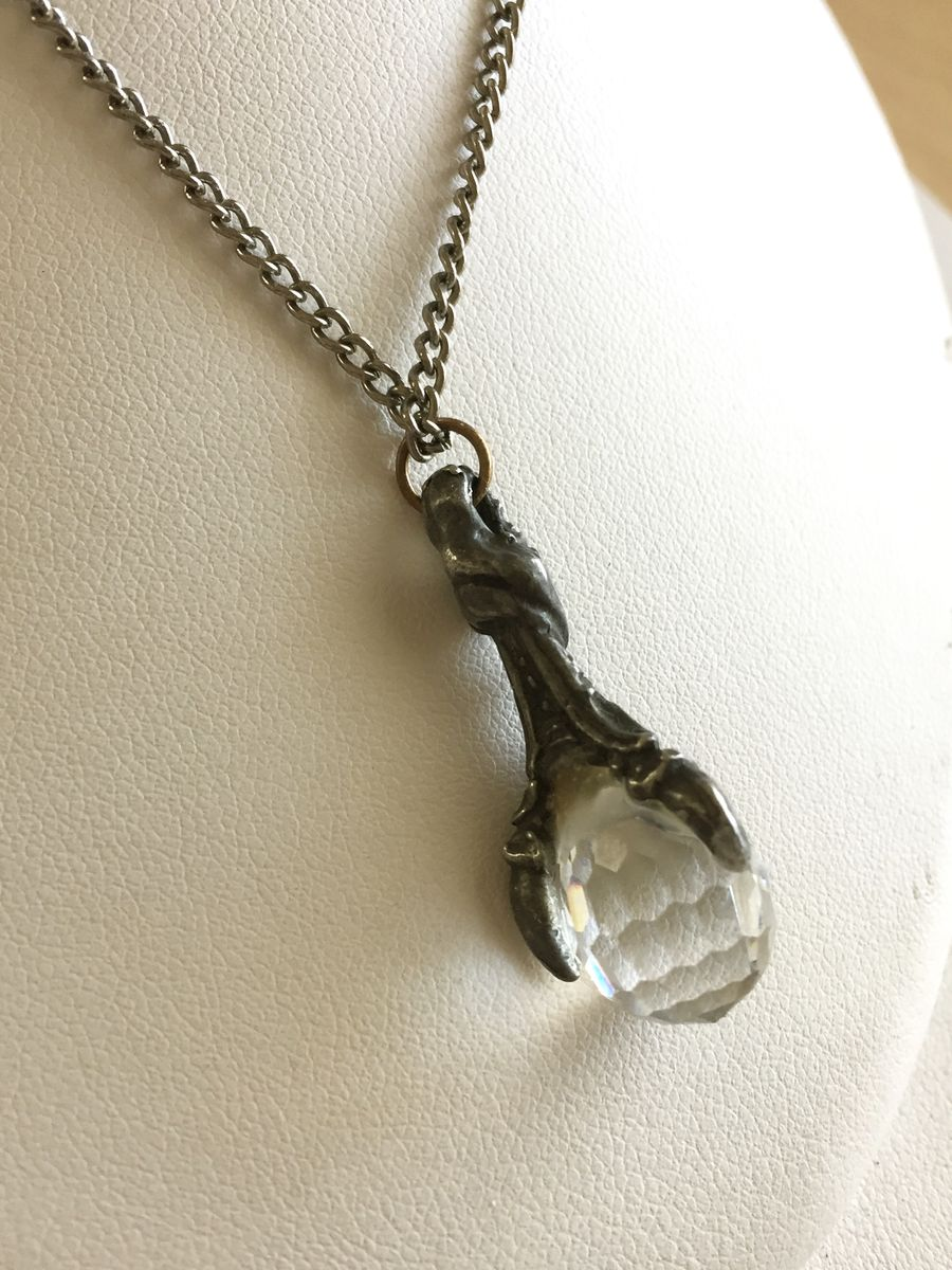 Crystal Dragon Claw necklace - product images  of