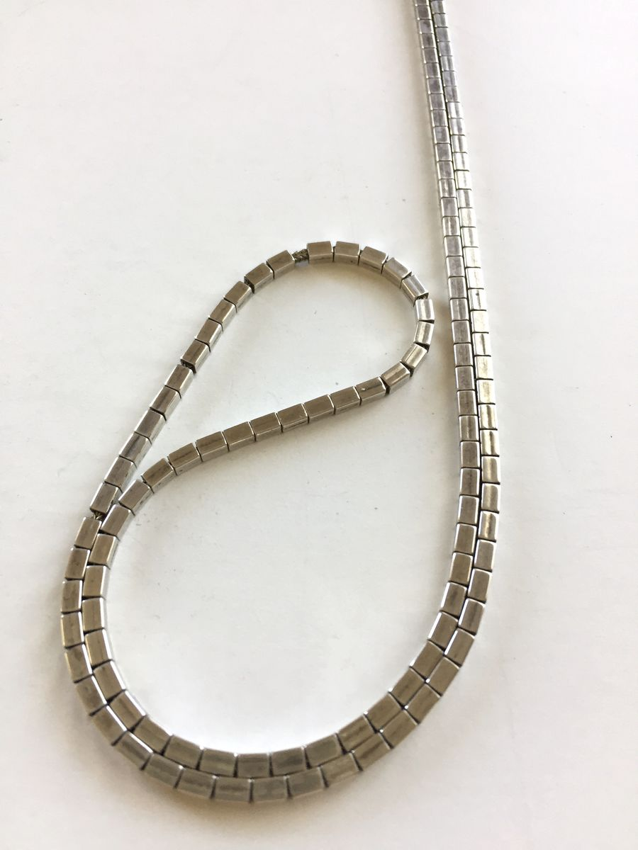 Ed Aguilar Pulled Sterling Foxtail Chain necklace  - product images  of
