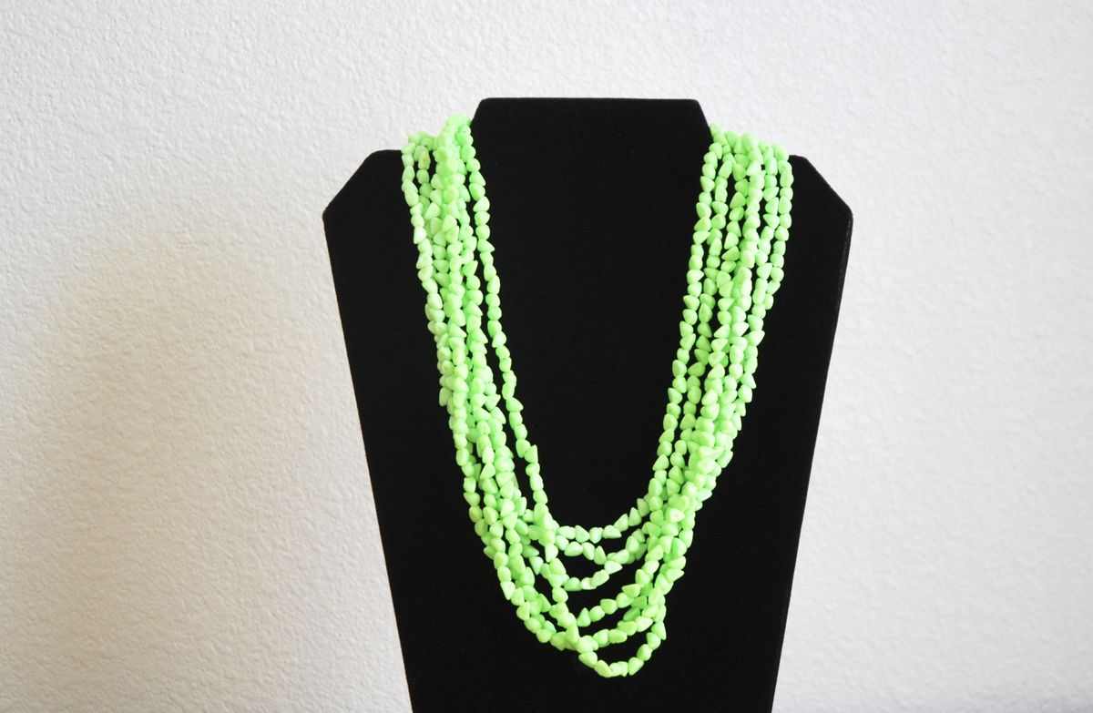 Lime Green Multi Strand Necklace  - product image