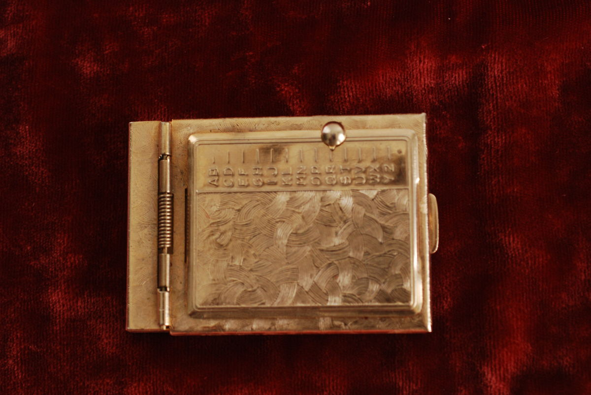 Vintage Mini Pop Up Metal Address Book Purse Size - product images  of