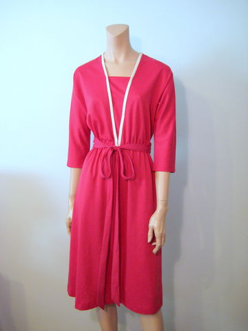 Vintage,Raspberry,Day,Dress,1970's,by,Melissa,Lane,Vintage dress, Melissa Lane Clothing, 1970's day dress, Raspberry dress, A Line dress