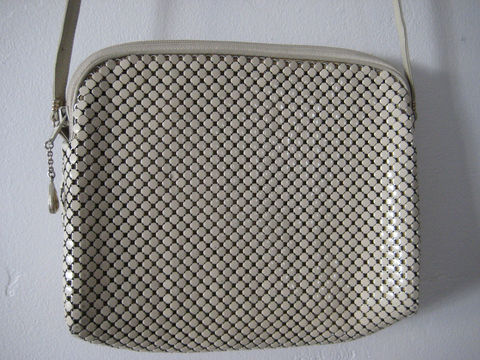 Vintage,Whiting,and,Davis,Purse,Bags and Purses,Whiting and Davis,beige mesh purse,cross body bag,vintage 1970s purse,classic beige purse,long strap bag,cream mesh purse,all purpose purse,metal mesh purse,womens purse handbag,gift for women,vintage mesh purse