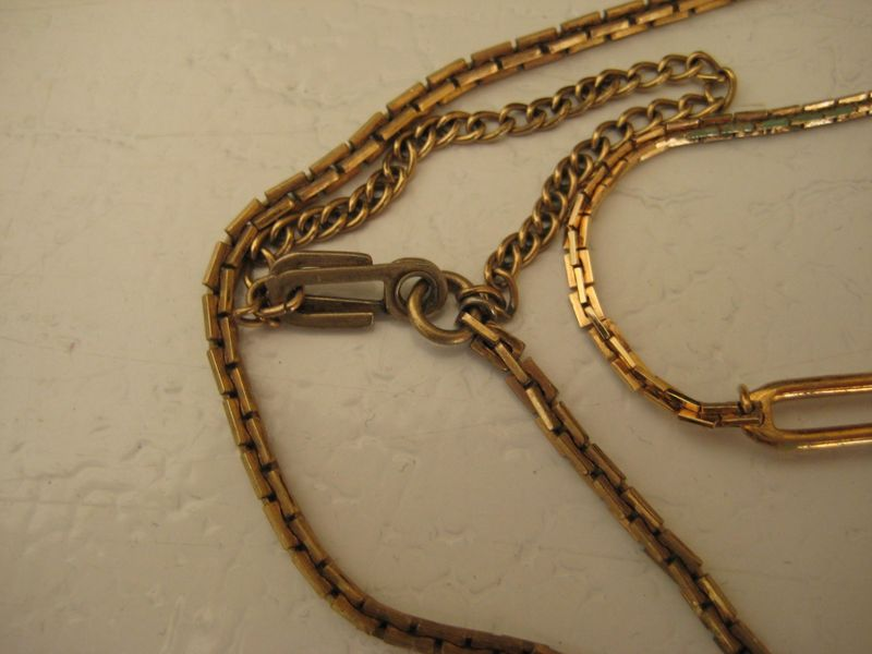 Vintage Watch Chain and Tie Clip - product images  of