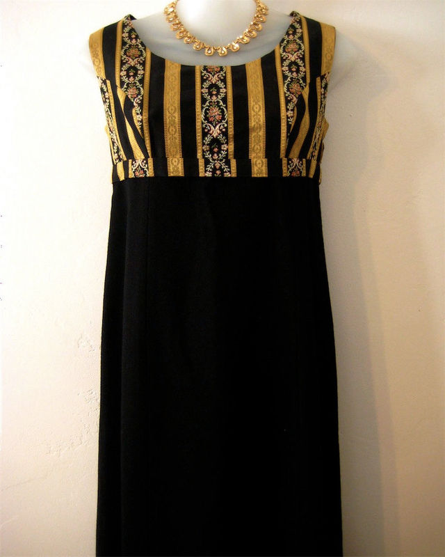 1960's Brocade and Wool Dress - product images  of