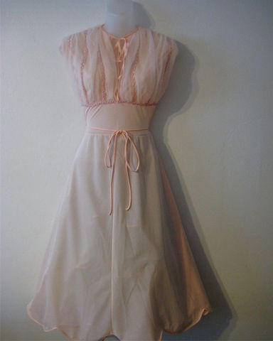 Vintage,Pink,Nightgown,Nylon,with,Sequin,Detail,Clothing,Lingerie,Pink nightgown,nylon lingerie,sequined gown,vintage nightgown,pink nylon,Eye Ful nightgown,size 36,vintage lingerie,scalloped edge gown,Pale pink,Cotton Candy Pink,Bubble Gum Pink