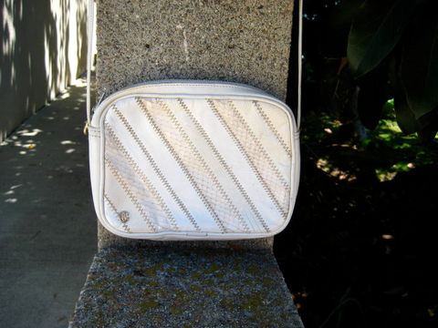 Designer,Cross,Body,Bag,Cream,Leather,Oleg,Cassini,Vintage,1980's,Bags and Purses,Purse,Oleg Cassini bag,Cross Body purse,Everyday purse,Leather purse,Cream snakeskin bag,Winter White purse,Lizard and snakeskin,vintage cream purse,patchwork leather,designer purse,1980s designer purse,cross body bag