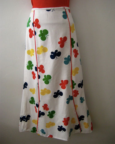 Butterfly,Print,Panel,Skirt,Cotton,Pique,Vintage,Clothing,White pique skirt,cotton pique skirt,long cotton skirt,butterfly print,paneled skirt,mermaid skirt,handmade skirt,fully lined skirt,white cotton skirt,multi colored skirt,modern print skirt,print panel skirt,cotton pique