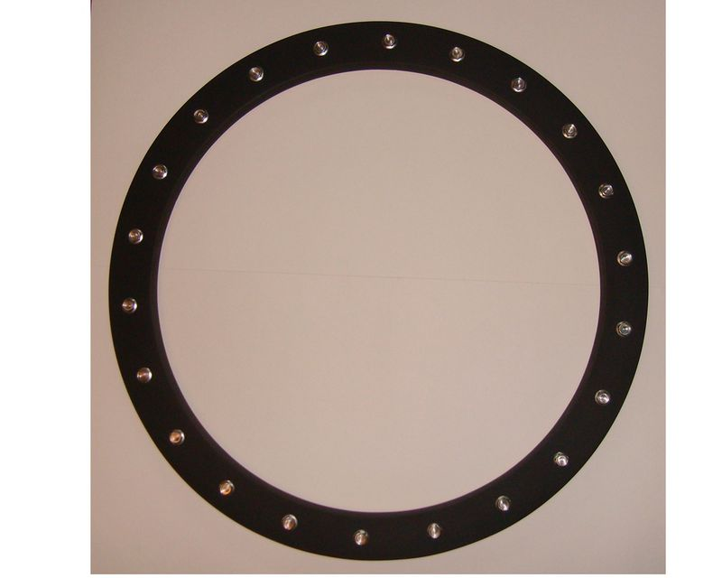 Round frame industrial porthole or flange style all the for Porthole style mirror