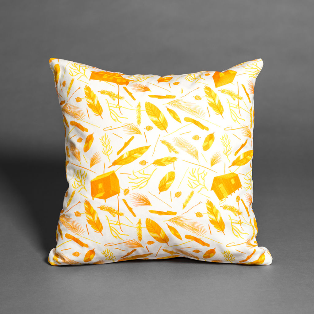 Nest Building Materials White/Orange Cushion - product images  of