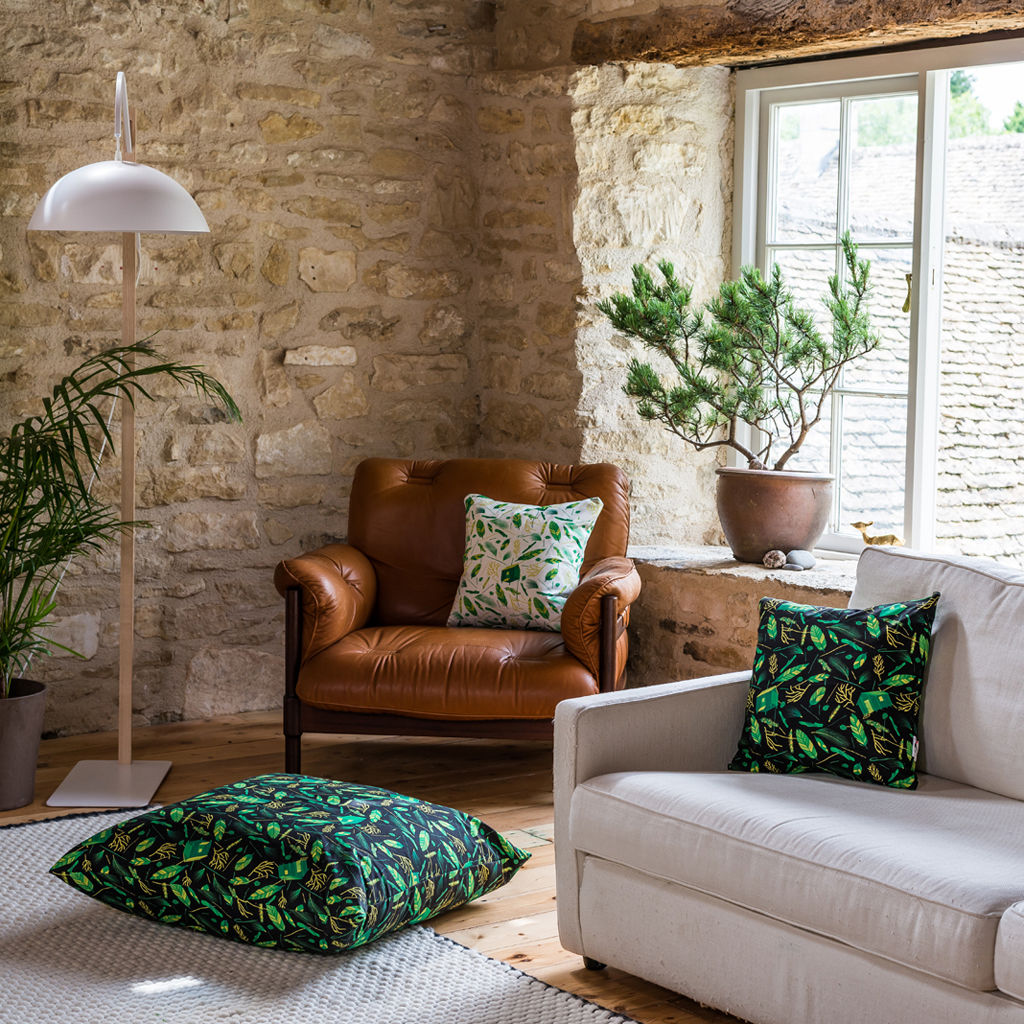 Nest Building Materials White/Green Cushion - product images  of