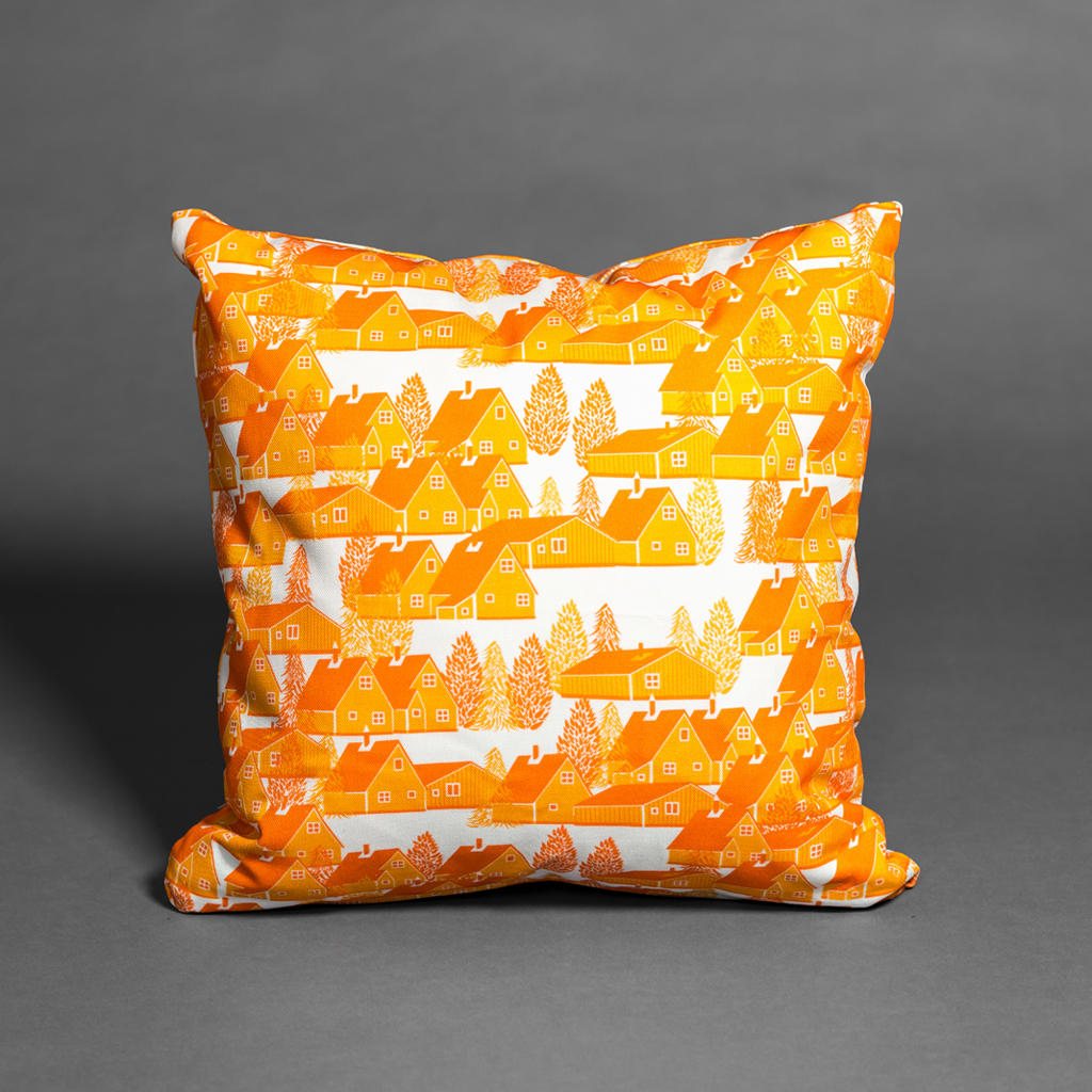 Greenland Orange cushion