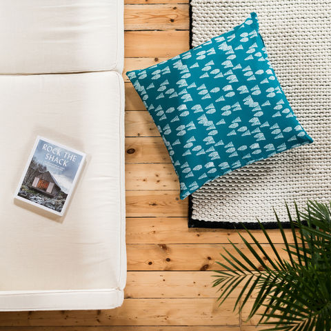 Greenland,Trees,Giant,Floor,Cushion,cushions, giant floor cushion, large cushion, floor cushion, cushion, pillow, greenland, design, home decor, decor, furnishings, blue, trees, blue and white, kids, cabin, nature, travel, pattern, patterned, scandi, scandinavian, nordic
