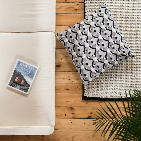 Geo,Graphica,Giant,Floor,Cushion,cushions, giant floor cushion, large cushion, floor cushion, cushion, pillow, design, home decor, decor, furnishings, geo, geometric, black, white, black and white, graphic, pattern, patterned