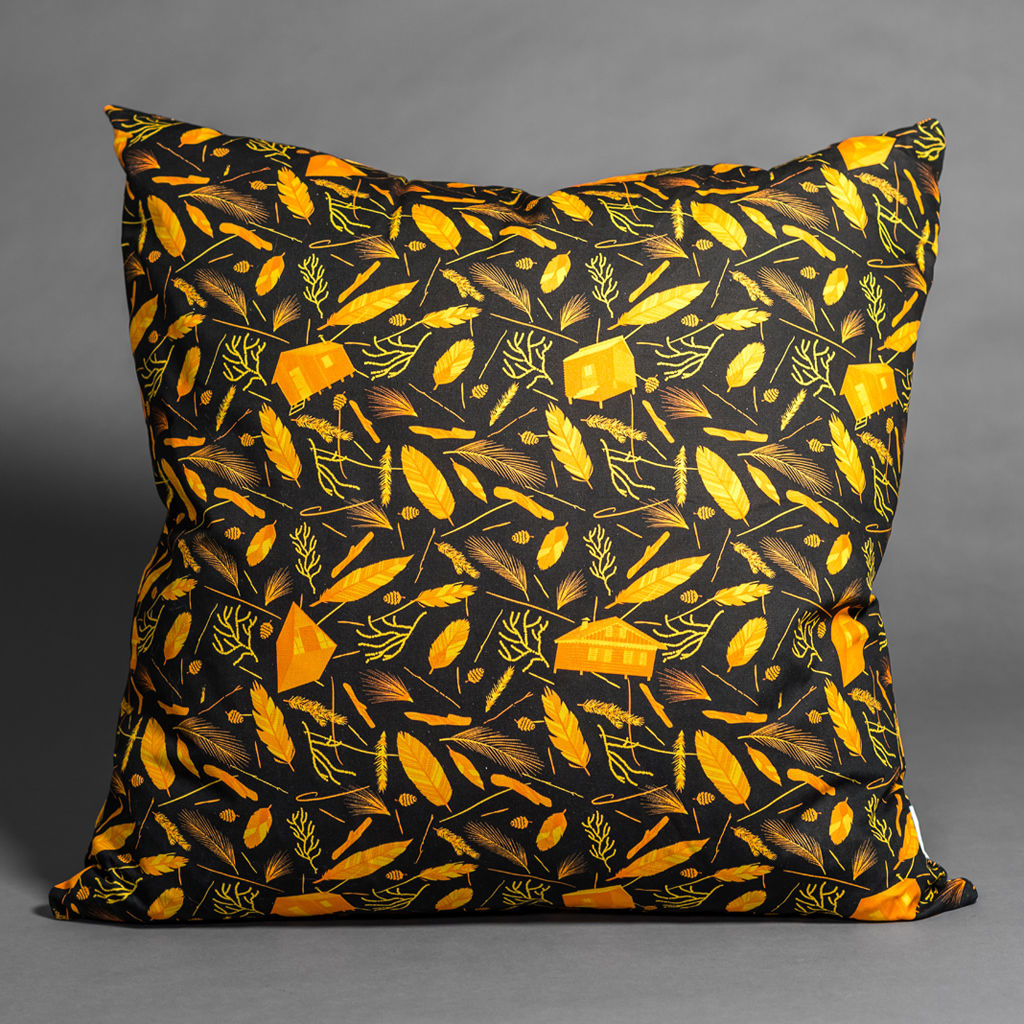 Nest Building Materials Orange/Black Giant Floor Cushion - product images  of