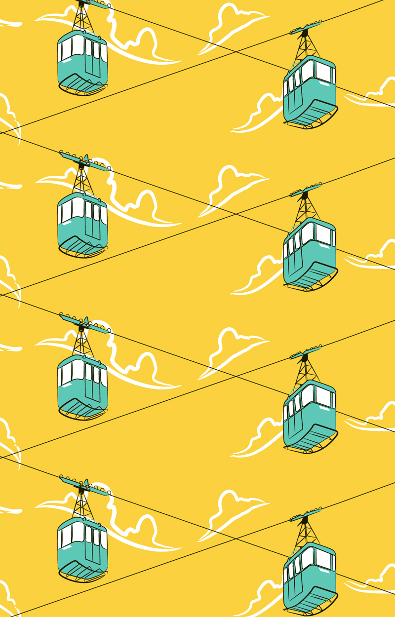 Cable Cars Pattern