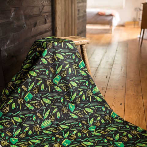 Nest,Building,Green,and,Black,Fabric,black, black and green, green, fabric, textiles, upholstery, material, designer, design, nest, nest building, nests, british, soft furnishings, curtains, feathers, leaves, botanical,