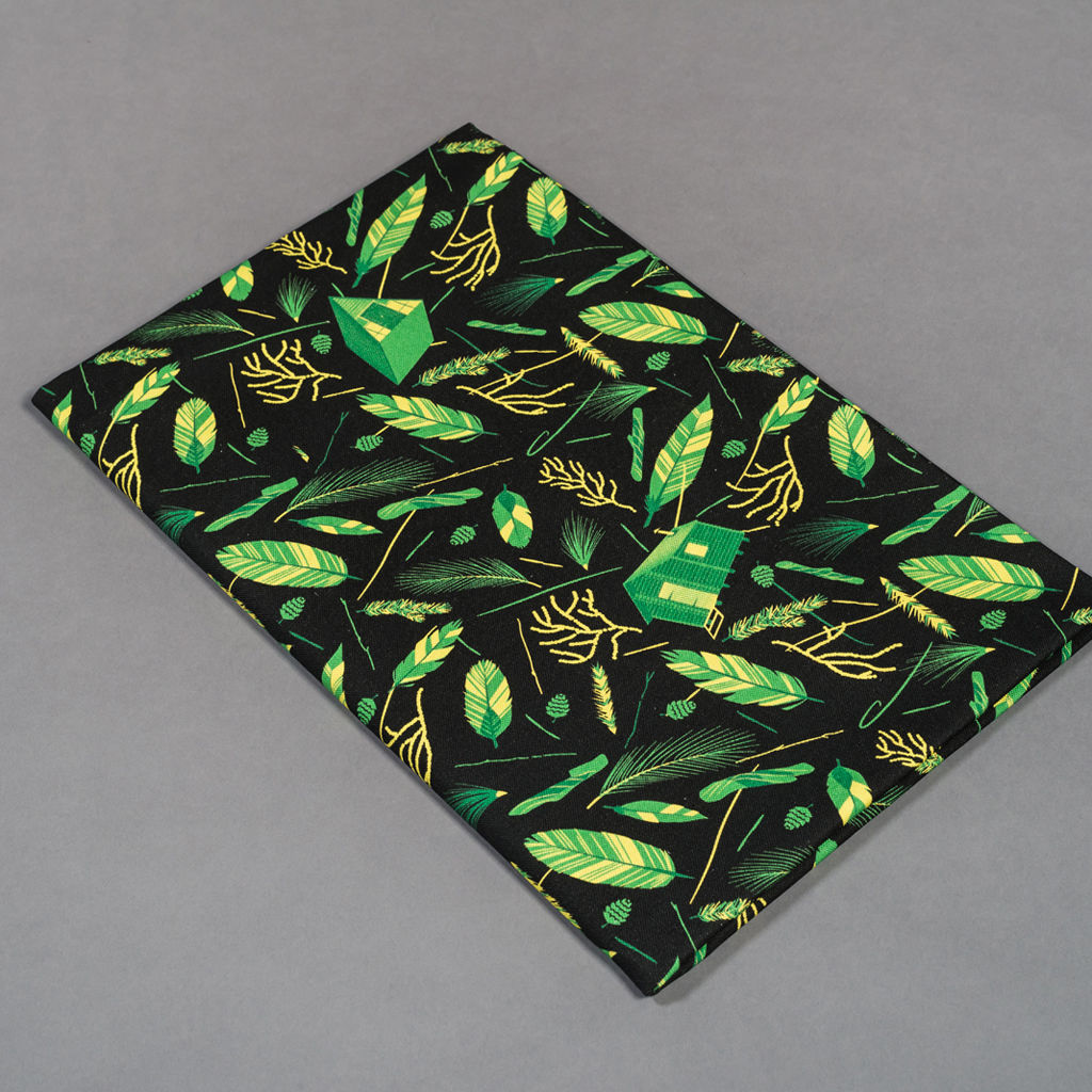 Nest Building Green and Black Fabric - product images  of