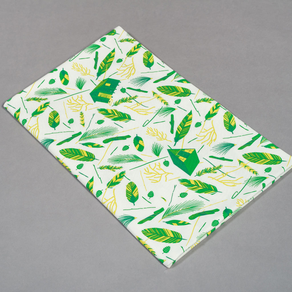 Nest Building Green and White Fabric - product images  of
