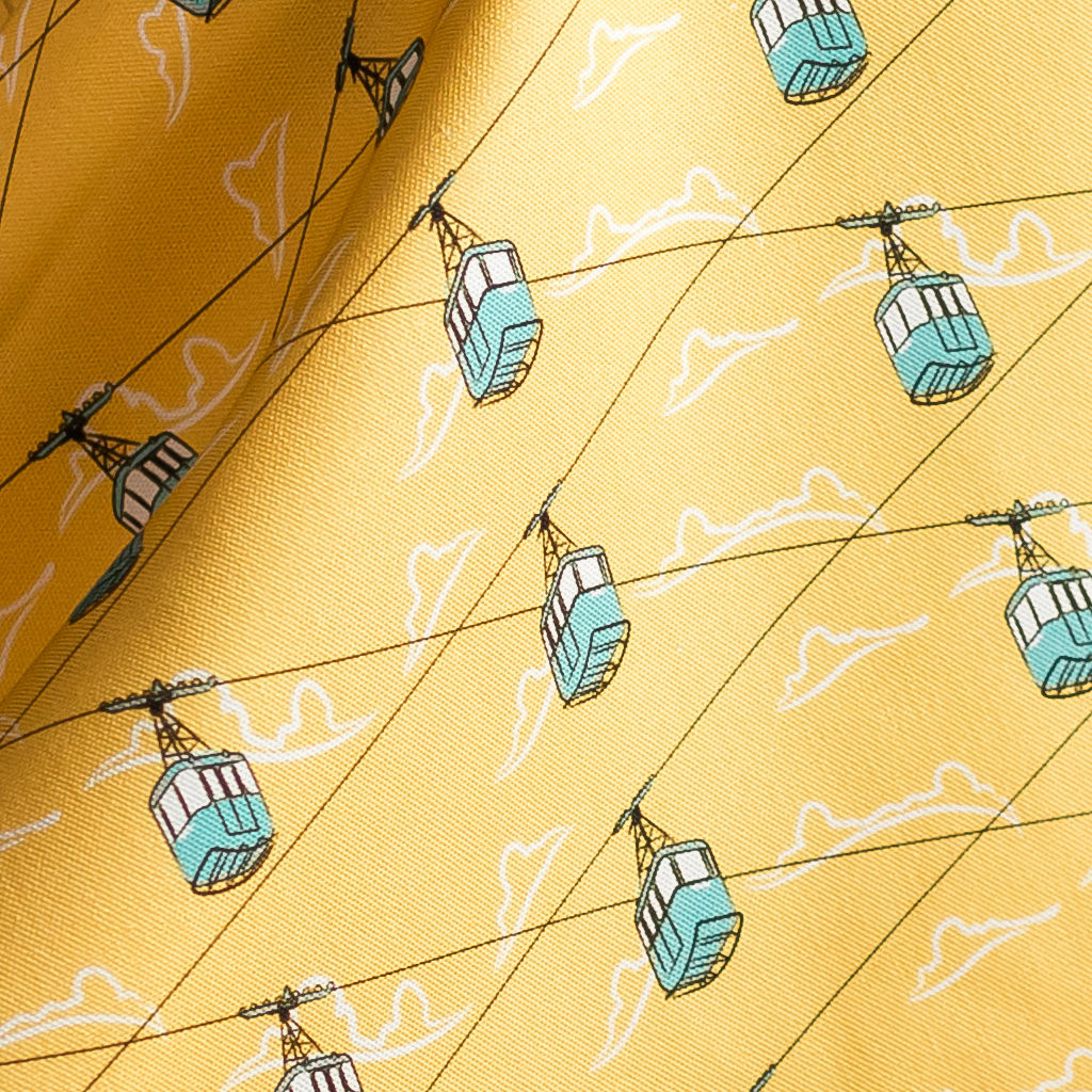 Cable Cars Yellow Fabric - product images  of
