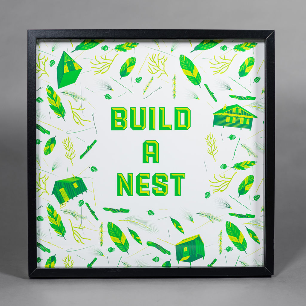 'Build A Nest' Green Art Print - product images  of
