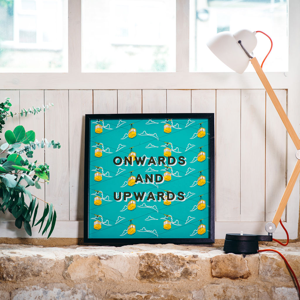 "'Onwards and Upwards!"" Cable Cars Art Print - product images  of"