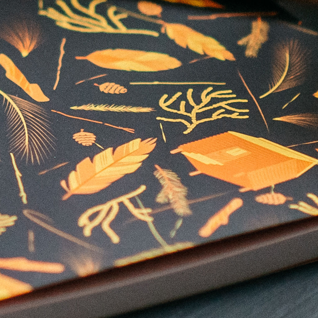 Nest Building Materials Orange and Black Notebook - product images  of