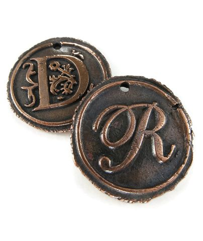 Custom,Order,Copper,Wax,Seal,Pendant,ttereve, wax seal, letter pendant, initial necklace, monogram necklace