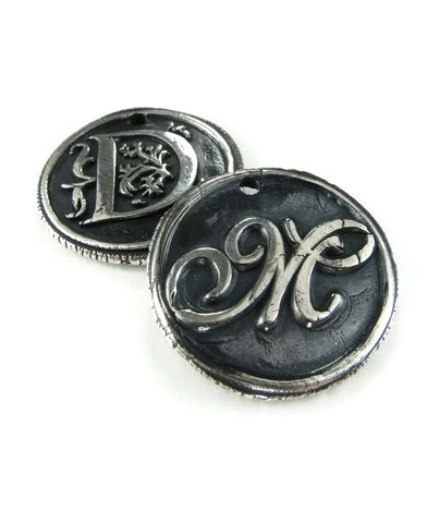Custom,Order,Silver,Wax,Seal,Pendant,ttereve, wax seal, letter pendant, initial necklace, monogram necklace, silver wax seal