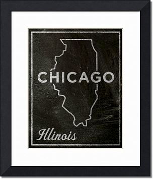 Chicago,City,State,Art,Print,-,11,in,x,14,Chalkboard,Custom,Print,,Illinois,Chalkboard Art, Chicago Art, City Print, Vintage Look Art, Minimalist Art, Typography Art, Honeymoon Gift, United States Cities, Dorm Room Art, Living Room Office, Wedding Gift, Custom State Print, Illinois State Art