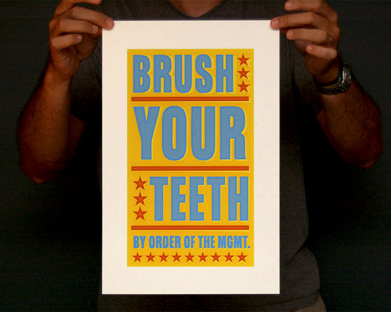 Bathroom Art - Kids Wall Decor- Brush Your Teeth By Order of ...