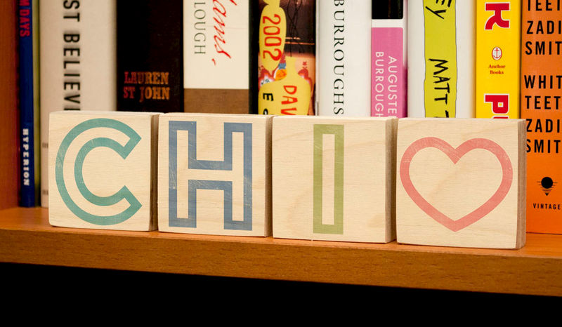 "Chicago Art- CHI City Love Letter Art Blocks- 2"" x 2"" Set of 4 Chicago- Chicago Print- Chicago Illinois Art- Going Away Gifts - product images  of"