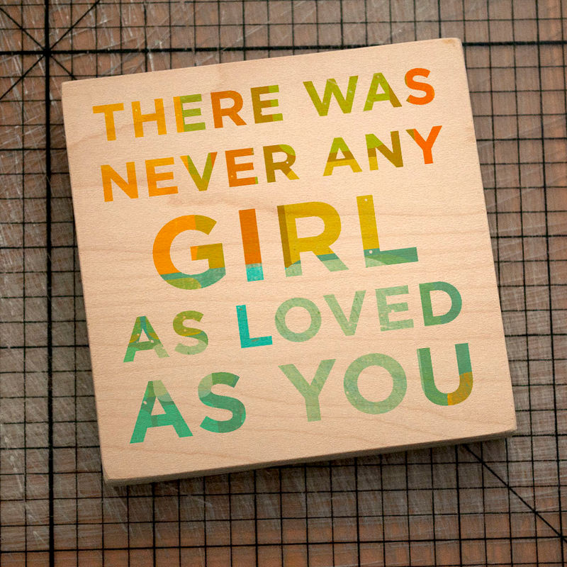 "Never Any Girl Art Block- 4"" x 4"" Never Any Series- Art for Girls Room- Art for Kids Room- Art for Nursery- Art Gift for Daughter- Gift - product images  of"