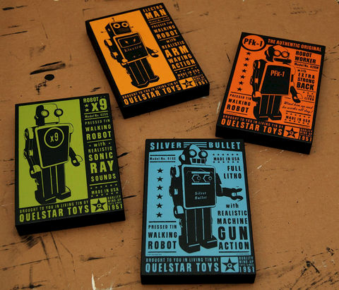Retro,Robot-,Quelstar,Robot,Art,Blocks-,Set,of,Four-,Wall,Decor-,Ready,to,Hang,Gift,for,Dad-,Husband,Print,Digital,John_W_Golden,Tin_Toy,Retro_Robot,Robot_Wall_Decor,Robot_Box_Artwork,Kids_Wall_Decor,Artwork_For_Boys,Gift_For_Dad,Gift_For_Husband,Ready_To_Hang_Art,Paper,Wood,Sealer