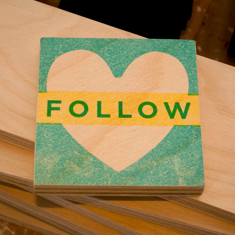 "Follow Your Heart Art Block- 4"" x 4"" Your Heart Series - product images  of"