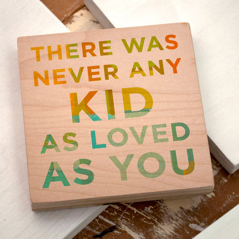 "Art for Kids Room- There Was Never Any Kid Art Block- 4"" x 4"" Never Any Series- Art for Boys Room- Art for Girls Room- Girl Nursery Art- Boy - product images  of"
