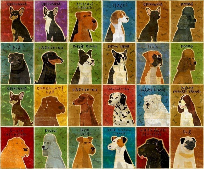 "Dog Wall Decor pick your pooch dog art print- 8"" x 10"" dog wall decor- whimsical"