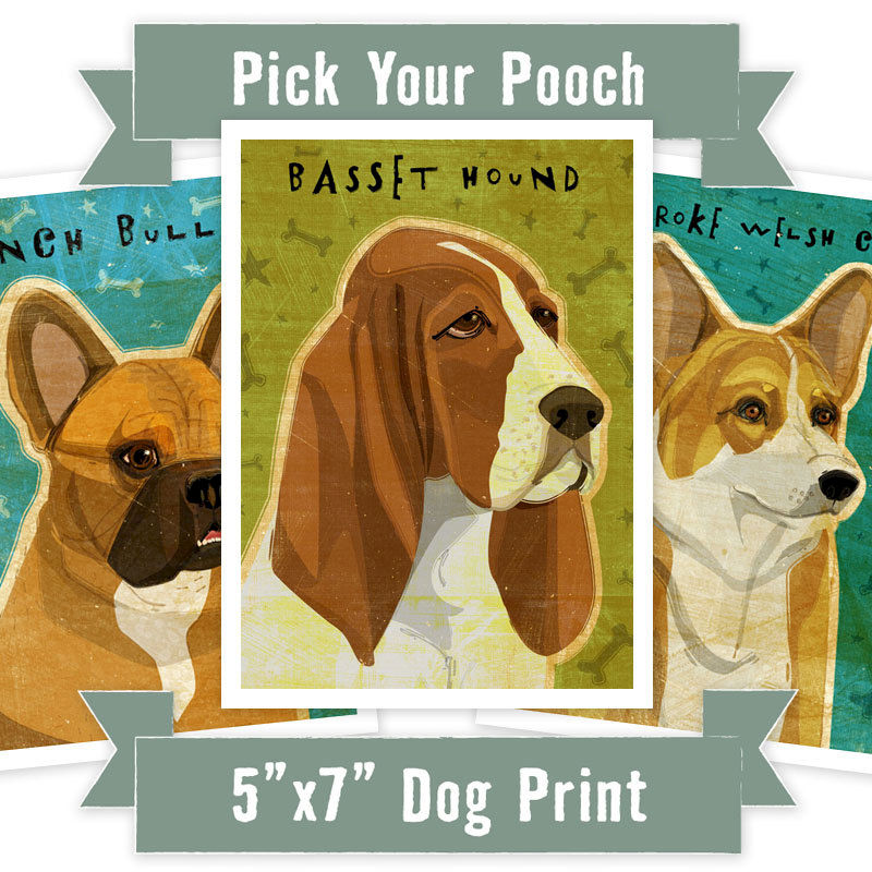 Personalized Dog Art - Personalize Your Pooch - Dog Art Print - 5\