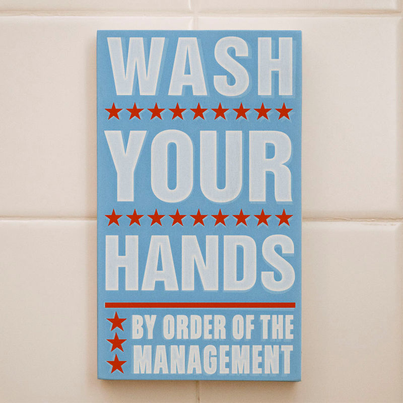Ordinaire Bathroom Decor  Kids Room Art  Wash Your Hands By Order Of The Management  Word