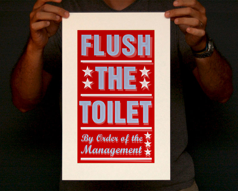Bathroom Art - Kids Wall Decor- Pick Your By Order of the Management ...