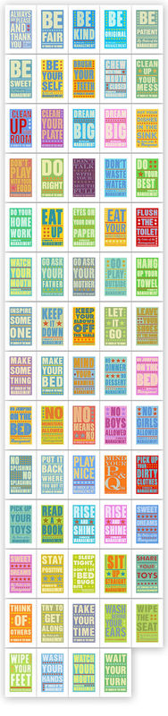 "Bathroom Art - Kids Wall Decor- Pick Your By Order of the Management Print- 8"" x 14"" fits 11"" x 17"" frame without mat- Playroom Art - product images  of"