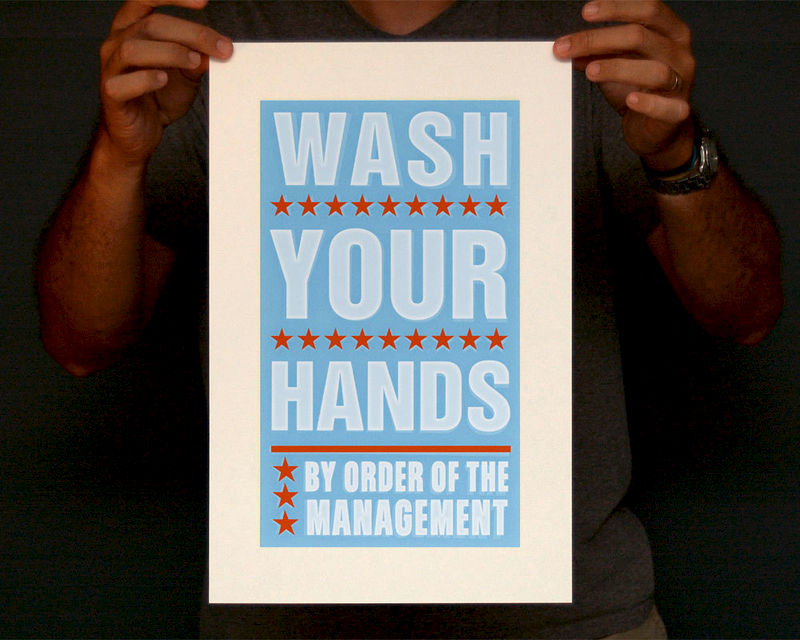 Bathroom Art - Kids Wall Decor- Wash Your Hands By Order of ...