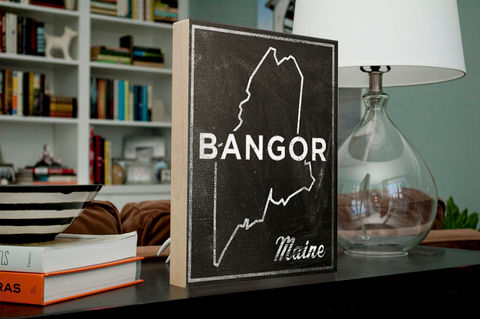 Bangor,Art-,City,State,Art,Box-,Maine,Map,Print-,11,x,14-,of,Print,Digital,Gift_For_Her,Chalkboard_Art,United_States_Cities,Dorm_Room_Art,State_Map_Art,Graduation_Gift,Going_Away_Gifts,Bangor_Maine,Map_Of_Maine,Maine_State_Map,wood,paper,ink,glue,sealer
