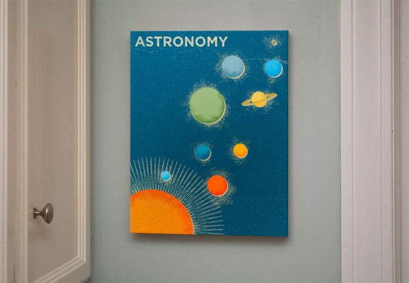 Girls Science Art Art For Boys Room Decor Astronomy Art