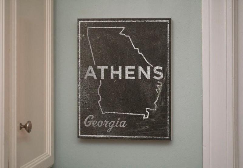 Athens Art- City State Art Box- College Town Print- 11\
